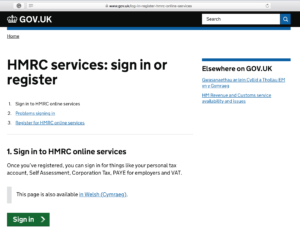 Sign in HMRC