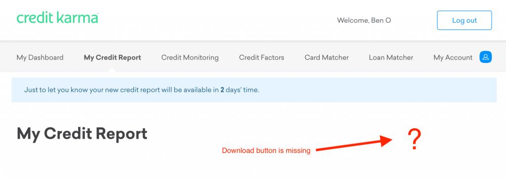Credit Karma Download Credit Report